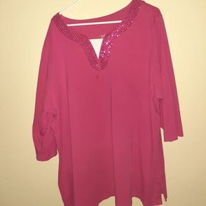 Pink Quarter Sleeve Top